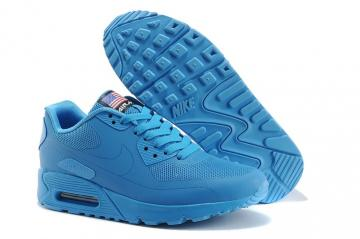 premium selection 56e3e 0751e Nike Air Max 90 Hyperfuse QS Lake Blue July 4TH Independence Day 613841-550