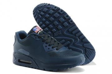 official photos d460e cb09b Nike Air Max 90 Hyperfuse QS Sport USA Navy Blue July 4TH Independence Day  613841-440