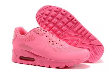 e88faa34c0 Nike Air Max 90 Hyperfuse QS Women Shoes All Pink Red July 4TH Independence  Day 613841-666