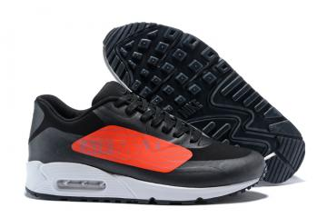 Nike Air Max 90 NS GPX Black Bright Crimson Big Logo Men walking Shoes  AJ7182-003 ac86cceec