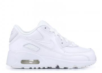 1164c6bd27 Nike Air Max 90 Ltr Little Kids White Athletic Shoes 833414-100