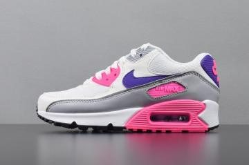 d35dcd0542 Nike Air Max 90 Essential Grey White Pink Purple Varsity 325213-136