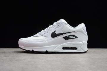 a34643a137 Nike Air Max 90 Essential Men Running Shoes White Black 325213-131