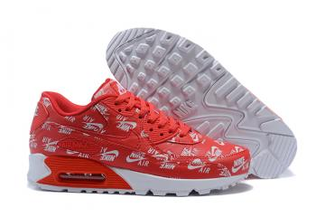 b570bf0509 Nike Air Max 90 Essential Red White Athletic Sneakers Classic 537384-002