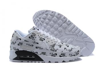 cheap for discount ca774 2439b Nike Air Max 90 Essential White Black Athletic Sneakers Classic 537384-001