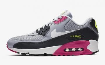 reputable site b68a7 d00f2 Nike Air Max 90 Essential Wolf Grey Rush Pink Volt White AJ1285-020