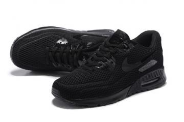 new style 56130 d3b71 Nike Air Max 90 Ultra BR Breeze Triple Black Mens Women Running Trainers  725222-010