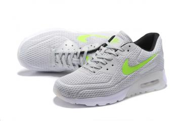 watch 0197d adc60 Nike Air Max 90 Ultra BR Silver Grey White Green Running Sneakers Shoes  725222