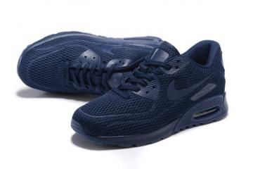 online store 55bf1 3f7dd Nike Air Max 90 Ultra Breathe Midnight Navy Men Women Sneakers Shoes  725222-401