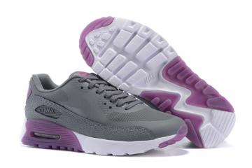 best authentic 709f8 c0429 Nike Air Max 90 Ultra Essential Wolf Grey Silver Purple Women Running Shoes  724981-002