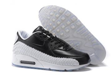 online store 49e09 799a6 Nike Air Max 90 Woven Black White Men Women Training Running Shoes 833129- 003