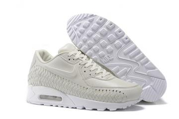 size 40 a7491 0d3ab Nike Air Max 90 Woven Phantom White Men Women Training Running Shoes 833129 -002