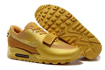 b9f0d3139c4f0 Nike Air Max 90 Air Yeezy 2 SP Casual Shoes Lifestyle Sneakers Metallic  Gold 508214-607