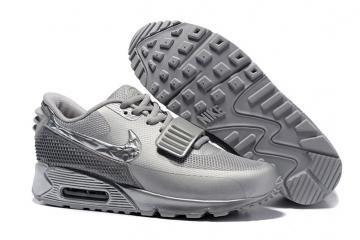 1e6ae942fd Nike Air Max 90 Air Yeezy 2 SP Casual Shoes Lifestyle Sneakers Metallic  Silver 508214-608