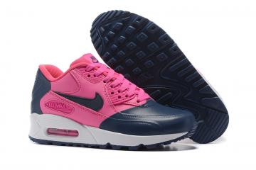 9975ba0c2d81 Nike Air Max 90 Premium SE BLUE CHERRY RED Women running shoes 858954-010