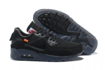 0d8597c855 OFF WHITE x Nike Air Max 90 OW Men Running Shoes Black All