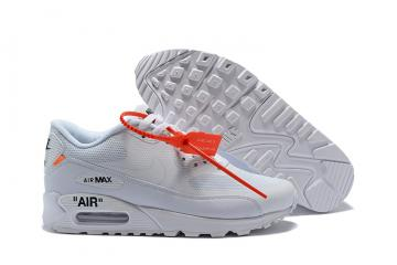 3bae104cb7 Off White X Nike Air Max 90 Unisex Running Shoes White All