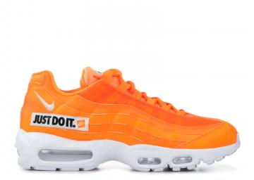 ef795477b3 Air Max 95 Se Just Do It Orange White Total Black AV6246-800