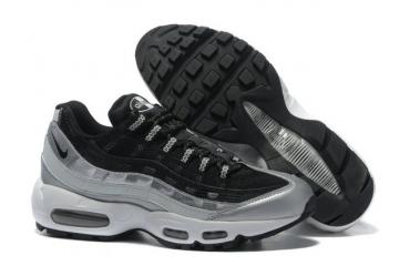 the latest 114fc ab9e3 Nike Air Max 95 Black Wolf Grey OG QS Running Shoes 609048-105