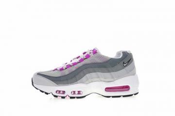 b9296fcf6576d Nike Air Max 95 Hyper Violet Grey White Sneakers 307960-001