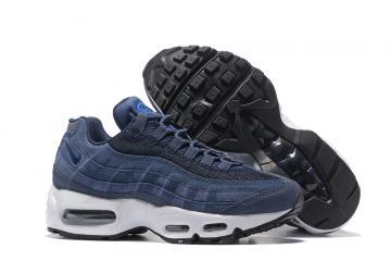 b5efe381c79164 Nike Air Max 95 20th Anniversary Navy Blue White Women Shoes