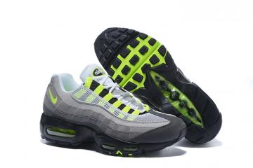 f4720babe9 Nike Air Max 95 AM95 AM Black Volt Medium Ash Dark Pewter OG Neon 554970-071