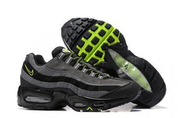 e0447fad30 Nike Air Max 95 Essential Wolf Grey Black Green Men Shoes 749766