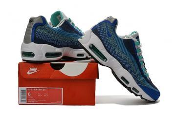 pretty nice 94ca5 ab3f9 Nike Air Max 95 JCRD Jacquard Photo Blue White Game Royal QS Men Shoes  644793-400