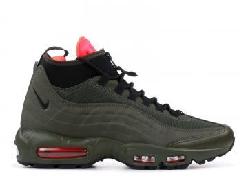 1b9763a363 Nike Air Max 95 Sneakerboot Dark Cargo Khaki Black Loden 806809-300