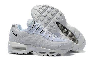 huge discount 9995a 493ec Nike Air Max 95 White Black OG QS Stussy Men Shoes 609048-109