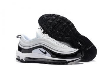 Nike Air Max 97 Pure White Black Men Running Shoes Sneakers Trainers  312641-006 52afdbb5c