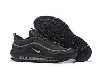 2472641a0d Nike Air Max 97 Silver Pure Black Men Running Shoes Sneakers Trainers  312641-091