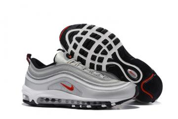 Nike Air Max 97 White Silver Grey Black Men Running Shoes Sneakers Trainers  312641-059 7d61fa851