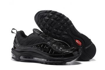 Buy Old Nike Air Max 98 Supreme Mens Shoes Dark Grey Black