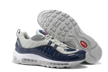 f28775ab77 Nike Air Max 98 Supreme Men Shoes Obsidian Reflective Silver White  844694-400