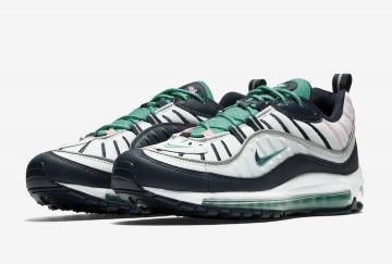 29939a252b Nike Air Max 98 Tidal Wave Pure Platinum Obsidian-Kinetic Green 640744-005