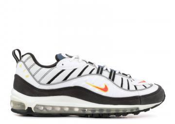86c99bd10681 Nike Air Max 98 Tm Black Orange White Silver Metallic 640744-101