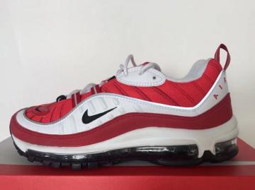 dc6184f3aed2 Nike Air Max 98 White Red AH6799-101