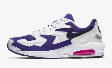 330f52078e73 Nike Air Max 2 Light White Court Purple Hyper Pink Black AO1741-103