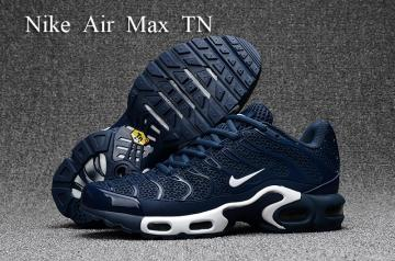 ef9952980e Nike Air Max Plus TN KPU deep blue white Men Sneakers Running Shoes  604133-080
