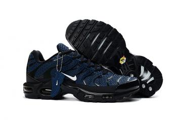 new arrival 691f2 82f9e Nike Air Max Plus TXT TN KPU Black Blue Men Sneakers Running Trainers Shoes  604133-104