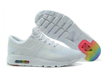 9c5bf2a1902fb Nike Air Max Zero QS Men Running Shoes White All Colored 789695