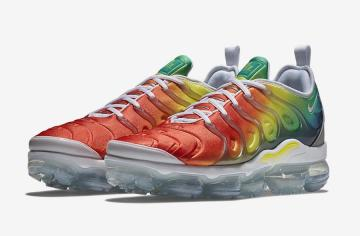 info for 63d2b 0c51e Nike Air VaporMax Plus Rainbow White Neptune Green Dynamic Yellow Blue  Nebula Habanero Red 924453-103