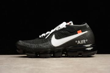 fcc14328ffb 2018 Off White X Nike Air Max Vapormax Men Running Shoes Black AA3831-001