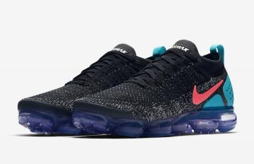 37c66769ab72 Nike Air VaporMax 2 Black Hot Punch -White-Dusty Cactus 942842-003