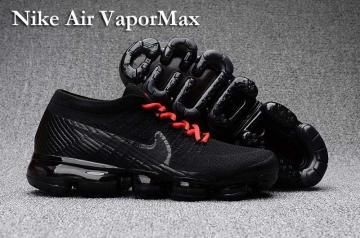 badc35d483da Nike Air VaporMax Men Women Running Shoes Sneakers Trainers Pure Black Red  Lace 849560