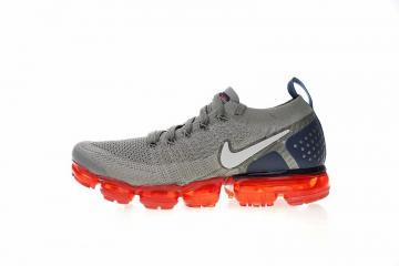 pretty nice 426af 7b299 Nike Air Vapormax Flyknit 2.0 Dark Stucco Obsidian Habanero Red Grey 942842- 010