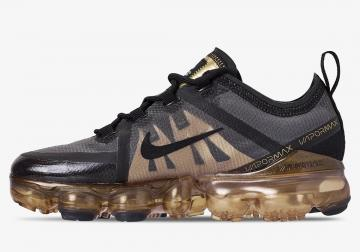 premium selection 3bc8a 46ee5 Nike Air VaporMax 2019 GS Black Gold AJ2616-004