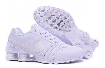 wholesale dealer b8eb7 4c173 Nike Shox Deliver Men ShoesPure White Silver Casual Trainers Sneakers 317547