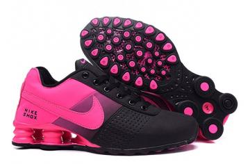 buy online 4bb20 ef872 Nike Shox Deliver Women Shoes Fade Black Fushia Pink Casual Trainers  Sneakers 317547